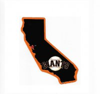 San Francisco Giants Home State Vinyl Sticker