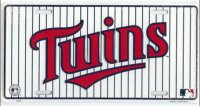 Minnesota Twins Pinstripe License Plate