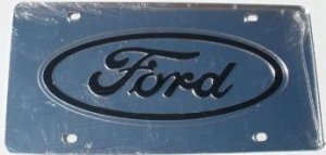 Ford Silver Laser Cut License Plate