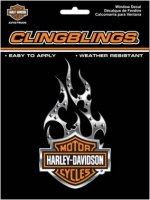 Harley-Davidson Black & Silver Cling Bling Decal 3D