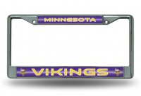 Minnesota Vikings Glitter Chrome License Plate Frame
