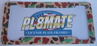 Camouflage Plastic License Frame