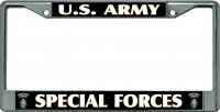 U.S. Army Special Forces #2 Chrome License Plate Frame