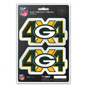 Green Bay Packers 4x4 Decal Pack