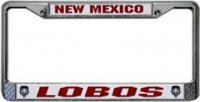 New Mexico Lobos Chrome License Frame
