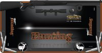 Hunting Black And Orange License Plate Frame