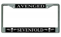 Avenged Sevenfold Chrome License Plate Frame