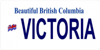 British Columbia Victoria Photo License Plate