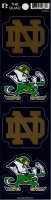 Notre Dame Fighting Irish Quad Decal Set