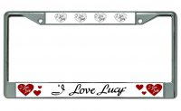 I Love Lucy #2 Chrome License Plate Frame