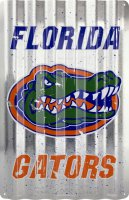 Florida Gators Corrugated Metal Sign