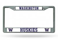 Washington Huskies Chrome License Plate Frame