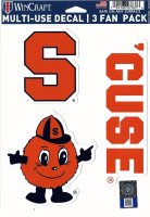 Syracuse Orange 3 Fan Pack Decals