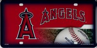 Anaheim Angels Metal License Plate