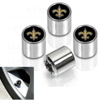New Orleans Saints Chrome Valve Stem Caps