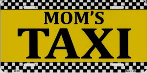 Mom's Taxi Metal License Plate