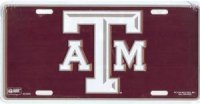 Texas A&M Burgundy License Plate
