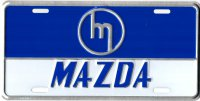 Mazda Retro Logo Metal License Plate