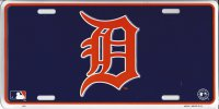 "Detroit Tigers ""D"" Blue License Plate"