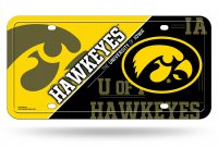 Iowa Hawkeyes Metal License Plate