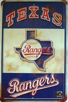 Texas Rangers Retro Parking Sign