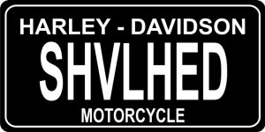 Harley-Davidson SHVLHED Motorcycle Photo License Plate