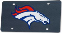 Denver Broncos Carbon Fiber Design Laser License Plate