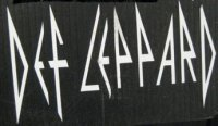 "Def Leppard White 4"" x 4"" Decal"