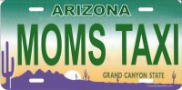 Arizona MOMS TAXI Photo License Plate