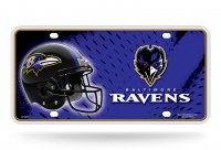 Baltimore Ravens Metal License Plate