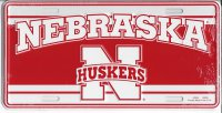 Nebraska Huskers License Plate