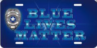 Blue Lives Matter License Plate