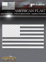3d-Cals American Flag Chrome Plastic Decal
