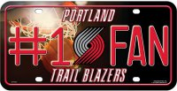 Portland Trail Blazers #1 Fan Metal License Plate