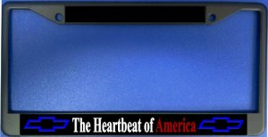 Heartbeat Of America Chrome License Plate Frame
