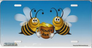 """Honey Bees"" License Plate"