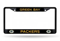 Green Bay Packers Black License Plate Frame