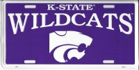 Kansas State Wildcats Purple License Plate
