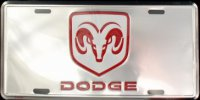 Dodge Chrome License Plate