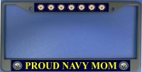 Proud Navy Mom Photo License Plate Frame