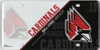 Ball State Cardinals Metal License Plate