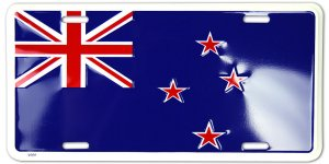 NEW Zealand Flag Metal License Plate