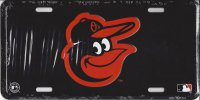 Baltimore Orioles Black License Plate