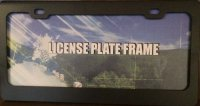 Blank Smooth Black 2 Hole License Plate Frame