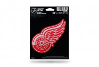 Detroit Red Wings Glitter Die Cut Vinyl Decal
