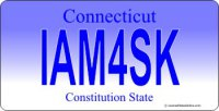 Design It Yourself Connecticut State Look-Alike Bicycle Plate