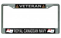 Veteran Royal Canadian Navy Chrome License Plate Frame