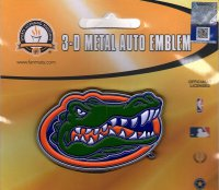 Florida Gators 3-D Color Metal Auto Emblem