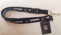 Dallas Cowboys Blackout Lanyard With Safety Latch