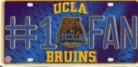UCLA Bruins #1 Fan License Plate